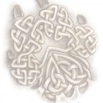 Celtic Knot Wolf Track