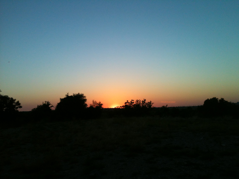 Sunset on the Preserve